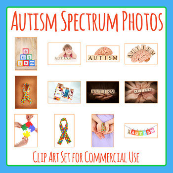 Autism Photos / Photographic Clip Art for Commercial Use