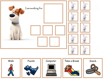 Autism:  Secret Life of Pets Token Boards
