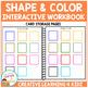 Shape & Color Interactive Workbook + Shape Flashcards