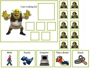 Autism:  Shrek Token Boards