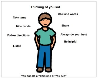 Autism Social Skills 'You Can be a Thinking of You Kid""