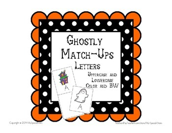 Autism Special Education Ghostly Match Ups Letters File Fo
