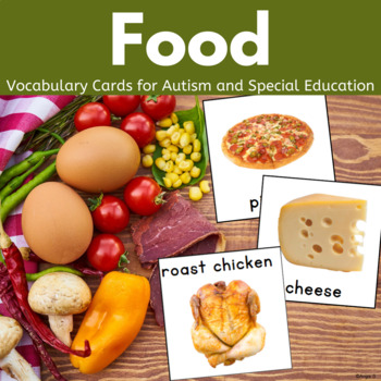 Autism & Special Needs Communication Cards - Food