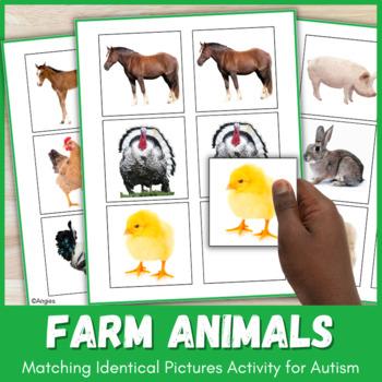 Autism  Matching Activity-Farm Animals
