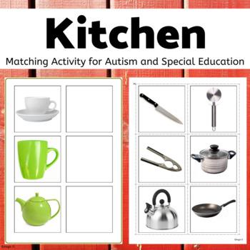 Autism & Special Needs Matching Activity-Kitchen Tools