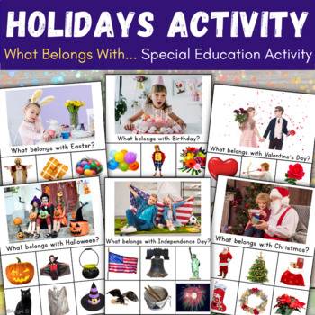What belongs? Holidays Activity for Special Ed