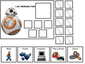 Autism:  Star Wars Token Boards