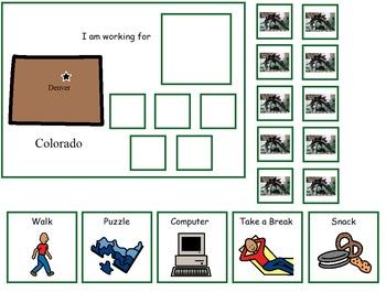 Autism:  State of Colorado Token Board