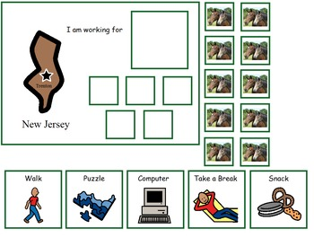 Autism:  State of New Jersey Token Board