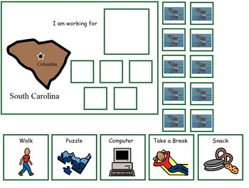 Autism:  State of South Carolina Token Board