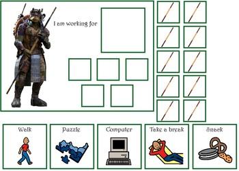 Autism:  Teenage Mutant Ninja Turtles Token Boards