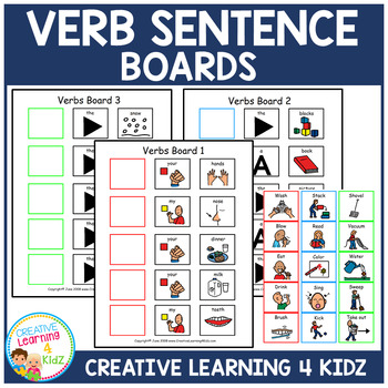 Verb Sentence Boards