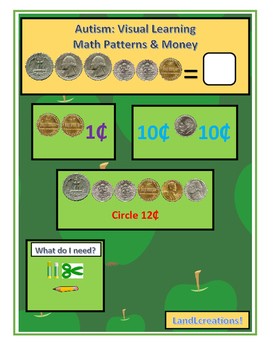 Autism: Visual Learning Math Patterns & Money