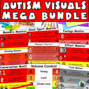 Autism Visual Monitor MEGA Bundle: Teach Appropriate Behav