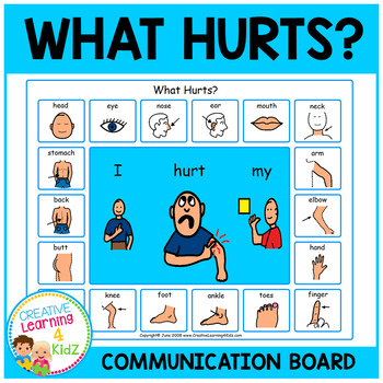 What Hurts Communication Board Visual PECS