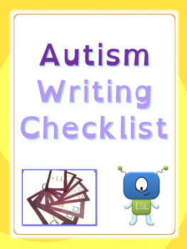 Autism: Writing Checklist (UPDATED)