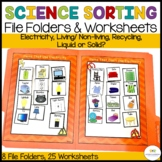 Autism and Special Education Science Sorting File Folders