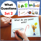 What Questions Autism Worksheets for Special Ed and Speech