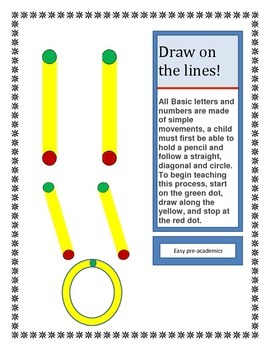 Fine Motor Skills /Pre-writing skills pages