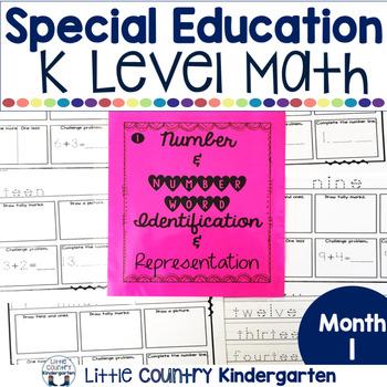 Autism or Kindergarten: Morning Work or Homework Month 1 o