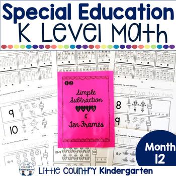 Autism or Kindergarten: Morning Work or Homework Month 12