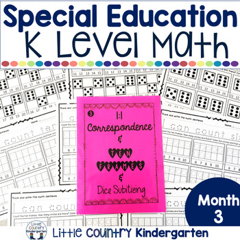 Autism or Kindergarten: Morning Work or Homework Month 3 o