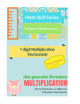 Auto-Generated Multiplication Worksheets (Horizontal)