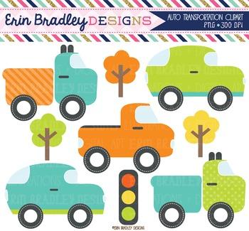 Auto Transportation Clipart Bundle