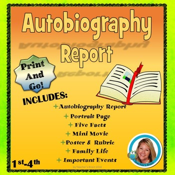 Autobiography Report - All About Me Print and Go