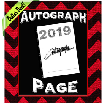 End of the Year Autograph Page