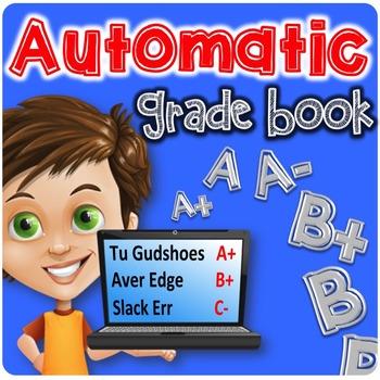Automatic Grade Book | Excel Grade Book | Number Grades AN