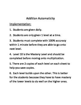 Automaticity Addition