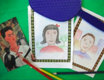 Autorretrato proyecto de Frida Kahlo en español. Self Port