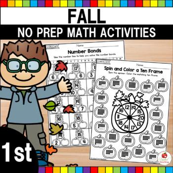Autumn 1st Grade No Prep Math Worksheets