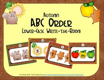 Autumn ABC Order: Lower-case Letters