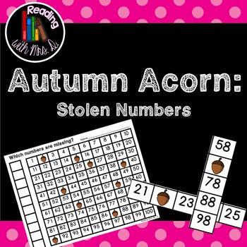 Autumn Acorn Missing Stolen Numbers  #dealsinOctober