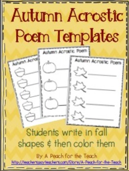 Autumn Acrostic Poem Templates