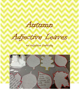 Autumn Adjective Leaves Craftivity
