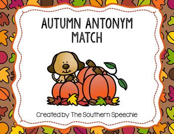 Autumn Antonym Match {Freebie}