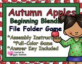 Autumn Apples Beginning Blends File Folder Game