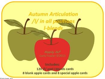 Autumn Articulation /l/ and l-blends