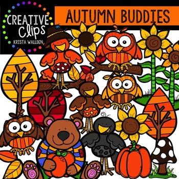 Autumn Buddies {Creative Clips Digital Clipart}