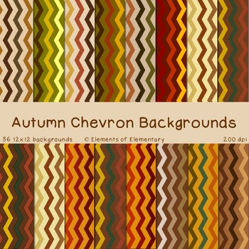 Autumn Chevron Backgrounds for Commercial Use (Fall Digita