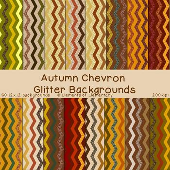 Autumn Chevron Glitter Backgrounds for Commercial Use (Fal