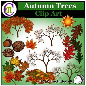 Autumn Clip Art ♦ Autumn Trees