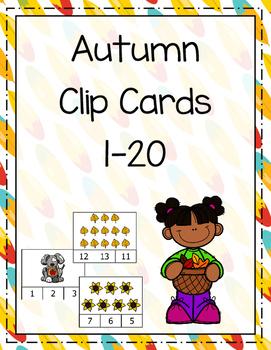 Autumn Clip cards