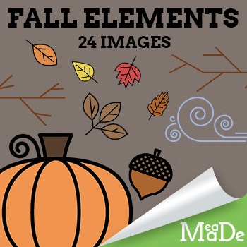 Autumn Clipart Elements - Fall Graphics