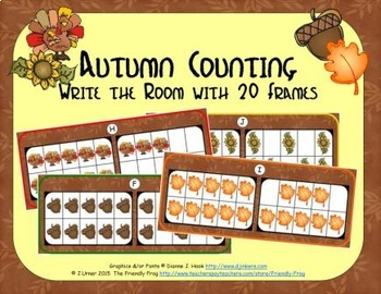 Autumn Counting with 20 Frames {Subitizing}