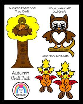Autumn Craft Pack: Owl, Tree/Crow, Christopher Columbus, F
