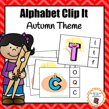 Autumn/Fall Alphabet Clip It Cards